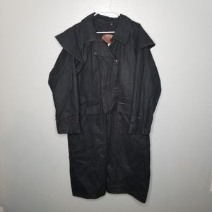Bush Trader Oilskin Outback Drover Trench Coat Md